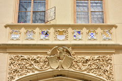 Balcony of castle Royalty Free Stock Photos