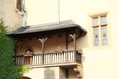 Balcony on castle Vlašský dvůr Stock Photo