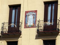Balcony, Central Madrid Royalty Free Stock Images