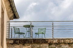 Balcony - city life Royalty Free Stock Image
