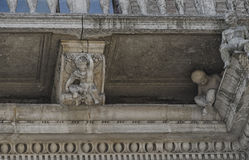 The balcony of a classic palace in Italy Royalty Free Stock Photography