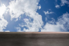 Balcony and cloudy sky Stock Photos
