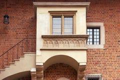 Collegium Maius. Balcony of Collegium Maius in  Jagiellonian University campus,  Krakow, Poland Stock Photo