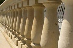 Balcony with column row Royalty Free Stock Photo