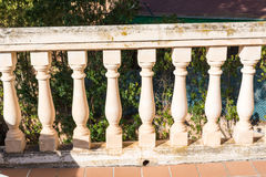 Balcony columns of stone columns Royalty Free Stock Images