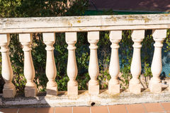 Balcony columns of stone columns Stock Photos