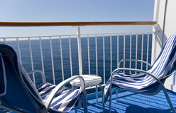 Balcony of a cruise ship Royalty Free Stock Photography