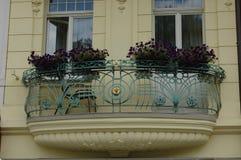 A balcony in the Czech Republic Stock Photo