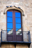 Balcony detail in Barcelona Royalty Free Stock Image