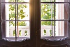 Balcony doors Stock Images