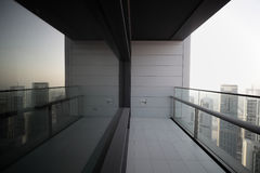 Balcony in dubai skyscraper Stock Photo