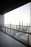 Balcony in dubai skyscraper Royalty Free Stock Photography