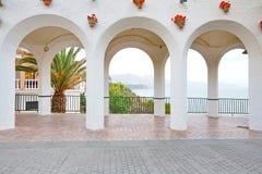 Balcony Of Europe Arches Nerja Spain Royalty Free Stock Photos