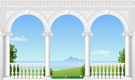White arch of the palace Stock Photo