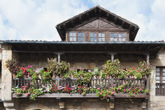 Balcony with flowers Stock Photo