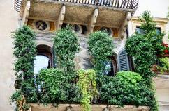 Balcony in Verona Royalty Free Stock Photography