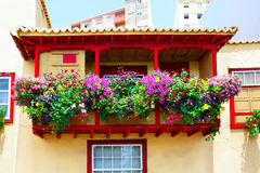 Balcony with flowers Stock Photo