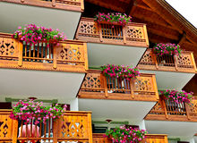 Balcony with flowers Royalty Free Stock Image