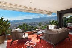 Balcony furnished Stock Photo