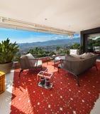 Balcony furnished Royalty Free Stock Photos