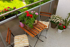 Balcony furniture Stock Images