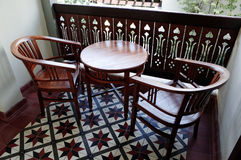 Balcony with Furniture Stock Photo