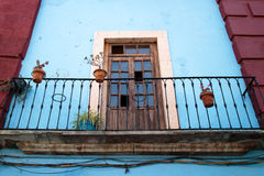 Balcony in Guanajuato. Balcony detail in the beautiful town of Guanajuato, Mexico Stock Photography