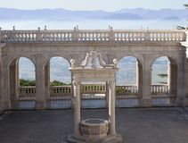 Balcony of heaven in the abbey of Montecassino royalty free stock photo