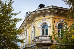 Balcony in historic building Royalty Free Stock Images