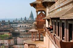 Balcony of historical Citadel in India Stock Photos
