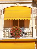 Balcony of a hotel Stock Images