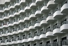 Balcony and hotel at the seaside Stock Photos