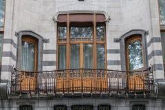 Balcony of the Hotel Solvay Stock Photo