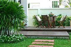 The balcony in house. The balcony in garden, relax, rest Royalty Free Stock Photo