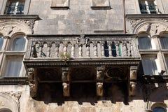 Balcony at house built in Renaissance in Korcula, Croatia Stock Photo