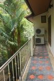 Balcony of house facing jungle Royalty Free Stock Photography
