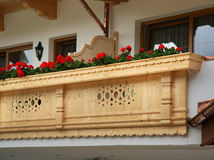 Balcony of house. Mayrhofen. Austria Royalty Free Stock Photo