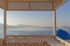 Balcony of house in Oia Royalty Free Stock Photography