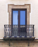 Balcony of a house in Seville Stock Images