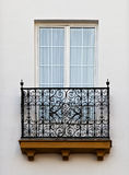 Balcony of a house in Seville Stock Photography
