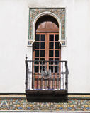 Balcony of a house in Seville Stock Photos
