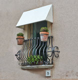 Balcony Of a House In Taormina Royalty Free Stock Photo