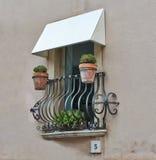Balcony Of a House In Taormina Royalty Free Stock Photo