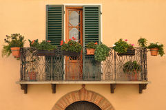 Balcony In Tuscany Royalty Free Stock Images