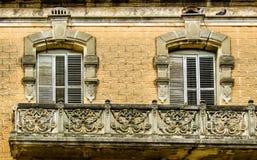 Balcony, Iron, Window, Wall stock images