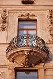 Balcony iron window wall wrought ornate Royalty Free Stock Photo