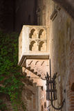 Balcony of Juliet Capulet Home at night in Verona Royalty Free Stock Image