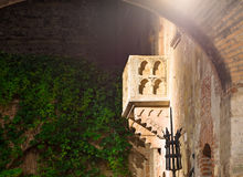 Balcony of Juliet Capulet Home at night in Verona Royalty Free Stock Photos