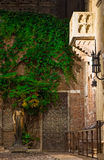Balcony of Juliet Capulet Home at night in Verona Stock Photography