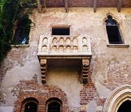 The balcony of Juliet royalty free stock image